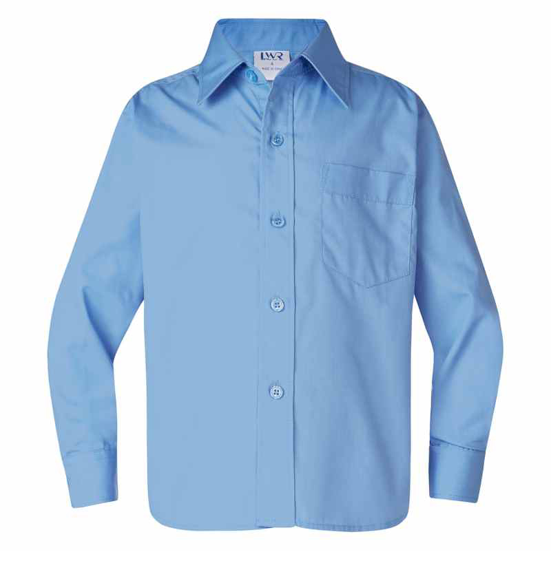 4856LS Barton Boys Long Sleeve School Shirt