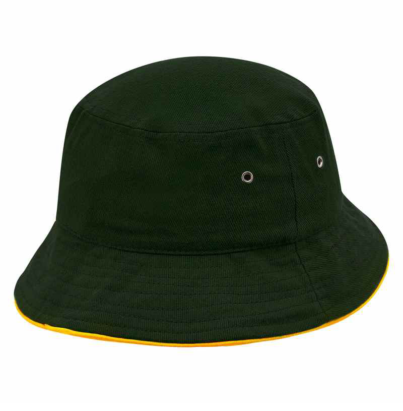 T4900B Sturt Cotton Bucket Hat with Trim